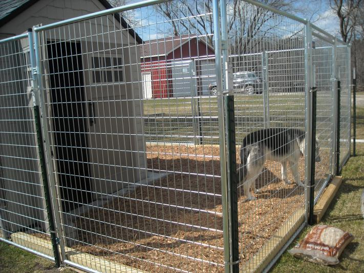 Finished New Outdoor Kennel German